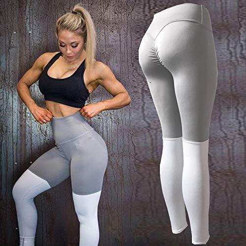 Gedessineerde hoge taille Smokte taille Dun,Fitnessbroek voor dames, gekleurde yoga-legging - zie chart_M, Baggy Jumper Casual tops Blouse T-shirt