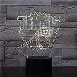 3D Tischlampe Kinder Spielzeug Geschenk Tennis Modellierung Nachtlicht Ändern USB Tennis Fans LED Home Decoration Schlaf Leuchte