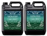 Dirtbusters - Pulizia e protezione, concentrato 4 in 1, 10 litri di soluzione di shampoo professionale per la pulizia di moquette e tappezzeria, detergente agli agrumi con neutralizzatore di odori