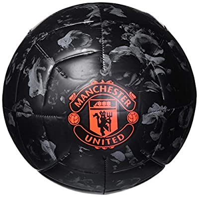 adidas Manchester United Capitano Soccer Ball Black/Grey Three/App Solar Red 3