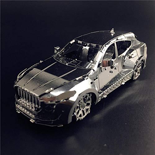 Nanyuan Magic Figuur 3D metalen puzzel snelle sportwagen Mercedes-Benz terreinwagen model volwassen speelgoed DIY hand gemonteerd-Terreinwagen MSL + bezorggereedschap + displaydoos
