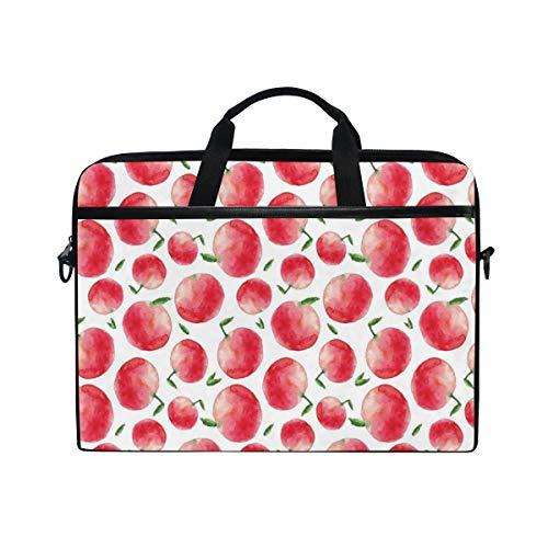 FOURFOOL 15-15.6 inch Laptop Bag,Apple Watercolor Art Harvest Print,New Canvas Print Pattern Briefcase Laptop Shoulder Messenger Handbag Case Sleeve