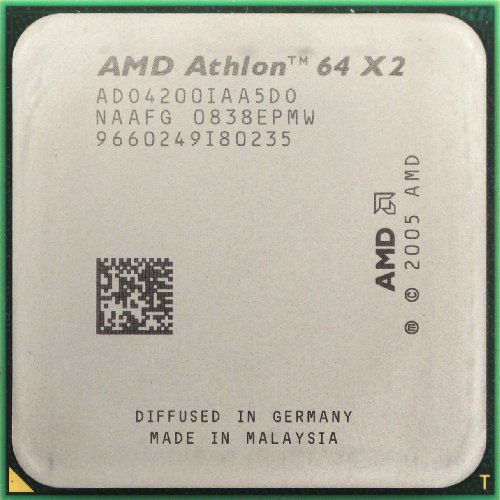 AMD Athlon 64 X2 4200+ Brisbane - Procesador de doble núcleo (2,2 GHz, 2 x 512KB, Cache L2, Socket AM2, 65 W)