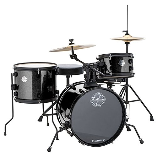 Ludwig LC178X Pocket Kit Black Sparkle - Set de batería enfocado para niños