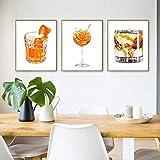 YQLKC Leinwanddruck Gemälde Mojito-Saft Bier Poster Cafe