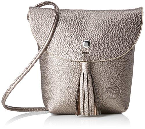 TOM TAILOR Umhängetasche Damen Ida, Silber (Altsilber), 4.5x16x17 cm, Damen Handtasche TOM TAILOR Handtaschen, Taschen für Damen