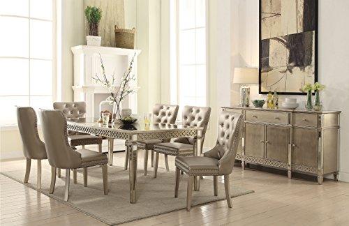 ACME Furniture Kacela Dining Table, Champagne