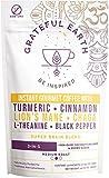 Grateful Earth: Super Brain Blend Instant Coffee - Medium Roast, Gourmet Arabica & Robusta, Non-Dairy 3-in-1 Coffee Packets (20) - Nootropics, Superfoods, Turmeric & Mushroom, Energy & Immune Support