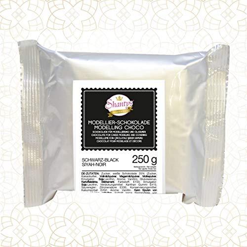 Premium Modellierschokolade - SCHWARZ 250 g - Schokolade Modelliermasse Shantys