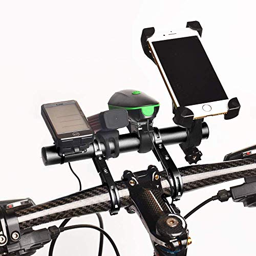 SOWELL ExtensióN De Manillar De Bicicleta De AleacióN De Aluminio, Apto para Manillar con DiáMetro De 25,4 A 31,8 mm con Destornillador para Sujetar El VelocíMetro De Bicicleta, GPS, Etc.