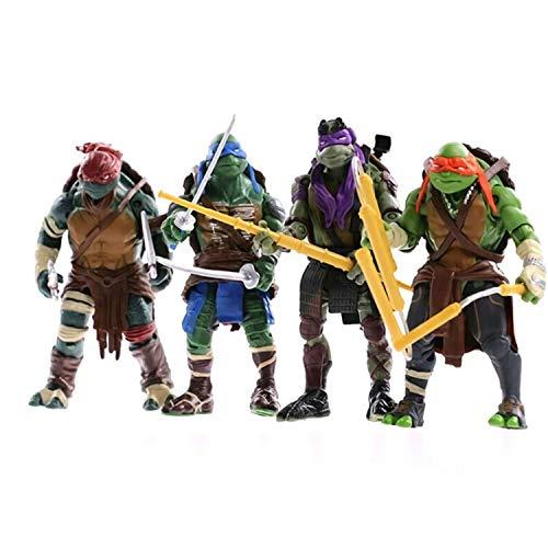 Teenage Mutant Ninja Turtles 4 Pieces TMNT Action Humanoid Turtle Toy, Mutant boy Suit, Leonardo, Raphael, Michelangelo, Donatello