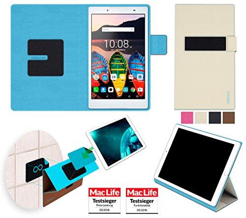 Hülle für Lenovo Tab3 850F Tasche Cover Hülle Bumper | in Beige | Testsieger