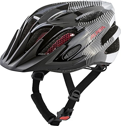 Alpina Kinder Fb Jr. 2.0 Fahrradhelm, black-white-red, 50-55 cm