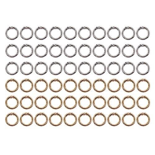 witgift 60 Stück Karabinerring Runde Karabinerhaken O Ring Karabiner Ring Schlüsselanhänger Spaltringe Verbindungsringe für DIY Handwerk,20mm