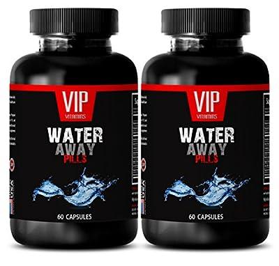 Bloating and Gas Relief - Water Away Diuretic Pills - Green Tea Extract - 2 Bottles 120 Capsules