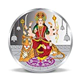 Moneda de plata pura de la diosa tradicional Durga MATA 999 (20 gramos)