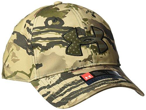 Under Armour Men's Camo Big Flag Logo Cap, Ridge Reaper Camo Ba (900)/Bayou, One Size