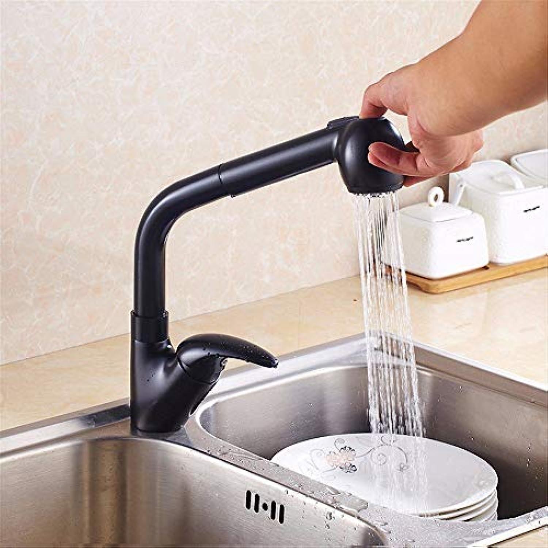 HUAIX Home Waschbecken-Mischbatterie-Badezimmer-Küchen-Becken-Hahn auslaufsicher Wasser sparen ziehen Strahlenfarbe 360 Grad Swivel Küche warm und kalt