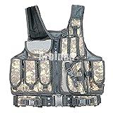 ULLAA Chaleco MOLLE multifunción para exteriores para hombres y mujeres, tamaño ajustable, para entrenamiento de combate de campo, entrenamiento de tiro, entrenamiento militar