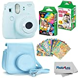 Fujifilm Instax mini 9 Instant Film Camera (Ice Blue) - Fujifilm Instax Mini Instant Film, Twin Pack -...