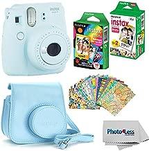 Fujifilm Instax Mini 9 Instant Film Camera (Ice Blue) - Fujifilm Instax Mini Instant Film, Twin Pack - Fujifilm Instax Mini Rainbow Film - Case for Fuji Mini Camera – Fuji Instax Accessory Bundle