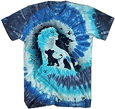 Disney Lion King Future King Africa Simba Mufasa Tie Dye Disneyland World Tee Adult Men's Graphic T-Shirt Apparel (Black, Large)
