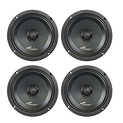 "(4) AUDIOPIPE APMB-8SB-C 8"" TWO PAIR FULL RANGE CAR AUDIO DJ SEALED BACK MID"