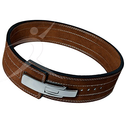 ARD CHAMPS10MM Weight Power Lifting Leather Lever Pro Belt Gym Training Brown (Medium)