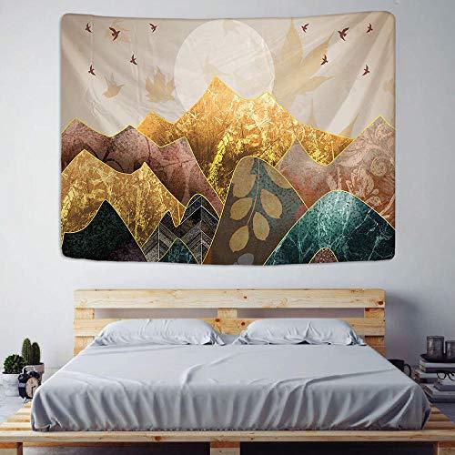 AdoDecor Tapiz Colgante de Pared de Estilo japonés, decoración nórdica para el hogar, Mantel artístico para Pared, Tapiz de Pintura de Paisaje para Dormitorio, 150x180cm