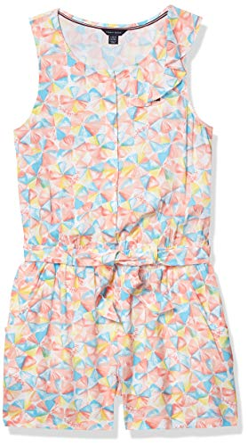 Tommy Hilfiger Kids Girls' Fashion Romper, Umbrella, 6X