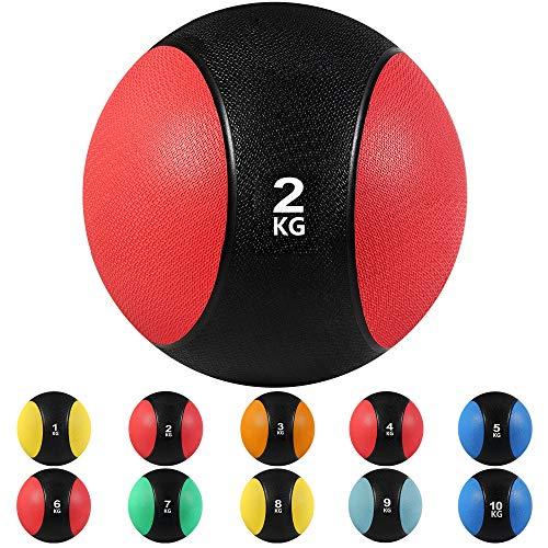 arteesol Medicine Balls, 1, 2, 3, 4, 5, 6, 7, 8, 9, 10 kg Balles de Poids Mort Grip Parfait pour l'entraînement de Force et de Conditionnement Physique, Les entraînements Cardio et de Base