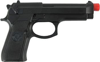 Fake Black Rubber Handgun Realistic Pistol Movie Theater Prop Costume Accessory Gun