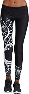 LOOKATOOL Women Tree Printed Sports Yoga Workout Gym Fitness Exercise Athletic Pants
