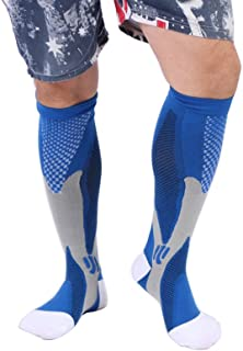 Compression Socks - Graduated Athletic & Medical Use for Men & Women,for Running,Flight,Travel,Nurses - Boost Performance,Blood Circulation & Recovery - 1 Pair