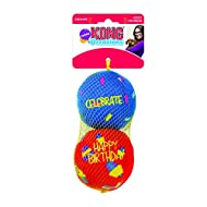KONG - Occasions Birthday Balls - Plush Dog Toy with Stimulating Crinkle & Squeak - For Medium Dogs ...