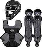 Rawlings Velo 2.0 Youth NOCSAE Baseball Protective Catcher's Gear Set, Black and Graphite