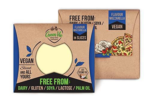 GreenVie Queso Mozzarella en Lonchas vegano 180g (Pack de 2)