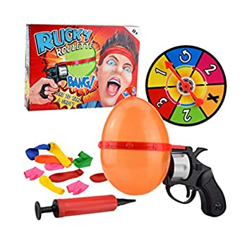 TOYANDONA Russian Roulette Balloon Creative Funny Turntable Balloon Set Spoof Water Polo Party Interactive Adult Tabletop Games Tricky Toy for Kids Adult Random Color