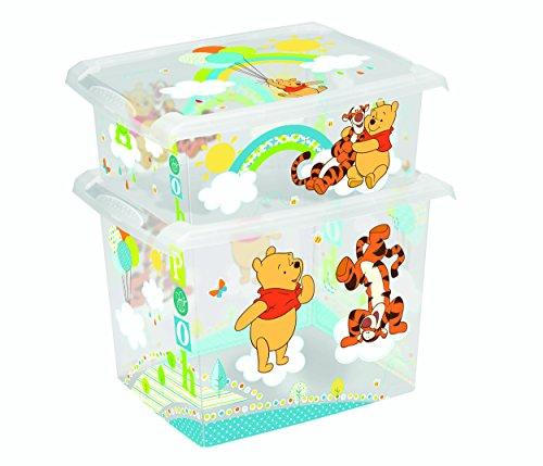 Lot de 2 boîtes à jouets Disney Winnie l'ourson 20 l + 10 l