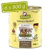GranataPet Liebling's Comida de Aves de Corral y jamón Italiano, Comida húmeda para Perros, sin Cereales ni azúcares, alimento Completo para Perros, 6 x 800 g