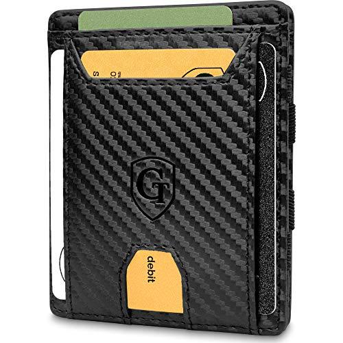 Pacific - Smarte Geldbörse - TÜV geprüft - Magic Wallet - Magischer Geldbeutel mit großem Münzfach - Inkl. Geschenkbox - Smart Wallet - Portemonnaie Herren Damen (Carbon)