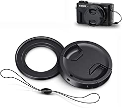 Filter Adapter JJC Conversion Lens Ring Adapter Fits for Canon PowerShot G7X Mark III G7X Mark II G5X for 49mm Filter with Lens Cap & Lens Cap Keeper