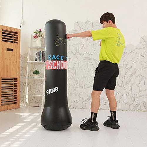 Alomejor Saco de Boxeo Inflable de PVC 1,5 m Inflable y Boxeo Inflable de Entrenamiento del Boxeo Inflable del ni/ño