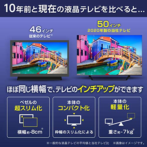 『ハイセンス 50V型 4Kチューナー内蔵 液晶 テレビ 50U7F ネット動画対応 3年保証』の9枚目の画像