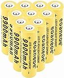 10 pcs 18650 Batería Recargable de Iones de Litio 3.7V 9900mah Baterías de botón de Gran Capacidad para Linterna LED, iluminación de Emergencia, Dispositivos electrónicos, etc