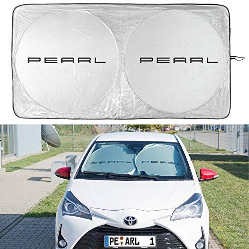 Lescars Auto Sonnenschutz: Reflektierende Universal-Sonnenschutzfolie für die Windschutzscheibe (Sonnenschutz Auto Frontscheibe)