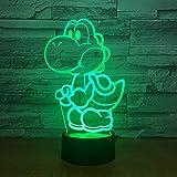 Te Amo cariño Bombilla LED 3D decoración romántica 7 Colores luz de Noche Brillante Regalo de Novia día de la Madre 1 Controlador