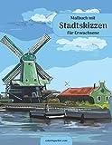 Malbuch mit Stadtskizzen für Erwachsene
