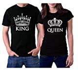 picontshirt King and Queen Couple T-Shirts Men...