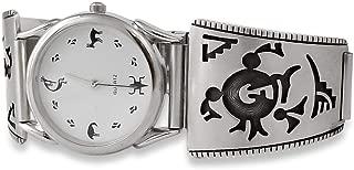 Men's Silver Hopi Mudhead Silver Vintage Watch